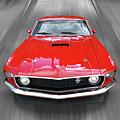 Mach1 Mustang 1969 Head On by Gill Billington