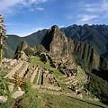 Machu Picchu And Bromeliad by James Brunker