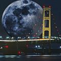 Mackinac Bridge Fantasy by Roger Swieringa