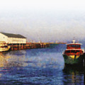 Mackinac Island Michigan Ferry Dock by Betsy Foster Breen