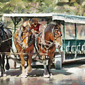Mackinac Island Transportation - Surrey With The Fringe On Top by Anne Kitzman