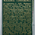 Mackinaw Conference Signage Mackinac Island Michigan Vertical by Thomas Woolworth