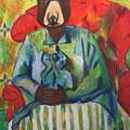 Madame Bear In A Chair by Danielle Klein