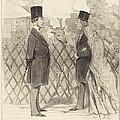 Madame Cabassol Se Prom?ne... by Honor? Daumier
