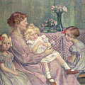 Madame Van De Velde And Her Children by Theo van Rysselberghe