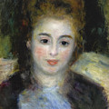 Mademoiselle Henriot Or Young Girl With A Blue Ribbon by Pierre-Auguste Renoir