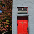 Madison Red Fire House Door by Amy Lucid