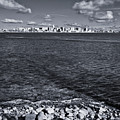 Madison Skyline - Black And White by Steven Ralser