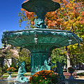 Madison Water Fountain In Fall by Amy Lucid