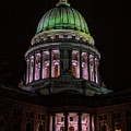 Madison Wi At Night by Tommy Anderson