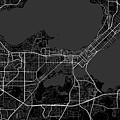 Madison Wisconsin Usa Dark Map by Jurq Studio