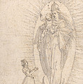 Madonna And Child Appearing To A Supplicant by Georg Neher