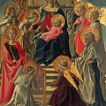 Madonna And Child Enthroned With Angels And Saints by Fra Filippo Lippi