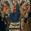 Madonna And Child Enthroned With Saints And Angels by Francesco Botticini