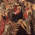 Madonna And Child Enthroned With Saints Fra Filippo Lippi by Eloisa Mannion