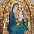 Madonna And Child Enthroned With Twelve Angels by Agnolo Gaddi
