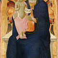 Madonna And Child Enthroned With Two Cherubim                                by Osservanza Master