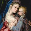 Madonna And Child by Giovanni Bernardo Lama