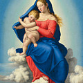 Madonna And Child In Glory by Sassoferrato