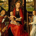 Madonna And Child With Angelsdetalj 5 Ngw Hans Memling by Eloisa Mannion