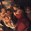 Madonna And Child With Child And Angles by Mountain Dreams