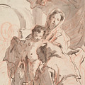 Madonna And Child With Saint by Giovanni Battista Tiepolo