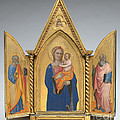 Madonna And Child With Saint Peter And Saint John The Evangelist [middle Panel] by Nardo Di Cione