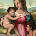 Madonna And Child With The Infant Saint John The Baptist by Andrea del Brescianino
