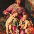 Madonna And Child With The Infant Saint John The Baptist by Santi di Tito