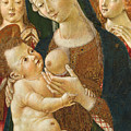 Madonna And Child With Two Angels by Pietro di Domenico
