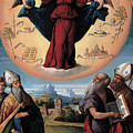 Madonna In Glory And Holy Hones by Benvenuto Tisi