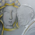 Madonna Nera E Giovanni Paolo II by Isabell  Von Piotrowski