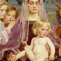 Madonna Of Giverny, 1901 Detail by Frederick William MacMonnies