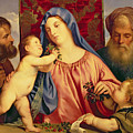 Madonna Of The Cherries With Joseph by Titian