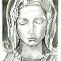 Madonna Of The Pieta by John Keaton