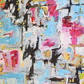 Magenta Abstract I by Michael Henderson