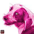 Magenta Beagle Dog Art- 6896 -wb by James Ahn