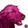 Magenta Golden Retriever Dog Art- 5421 - Wb by James Ahn