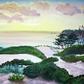 Magic Dawn At A Hidden Beach by Laura Iverson