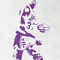 Magic Johnson Los Angeles Lakers Pixel Art by Joe Hamilton