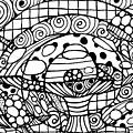 Magic Mushroom Tangle by Nada Meeks
