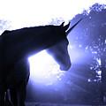 Magic Unicorn In Blue by Sari ONeal