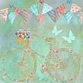Magical Bicycle Tour Enchanted Happy Art by Tina Lavoie