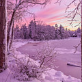 Magical Sunset After Snow Storm 1 by Claudia M Photography