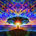 Magical Tree And Sun 2 by Lilia D