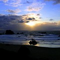 Magnificent Bandon Sunset by Will Borden
