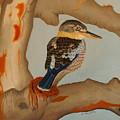 Magnificent Blue-winged Kookaburra by Brian Leverton