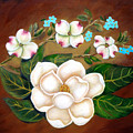 Magnolia And Dogwood by Darlene Green