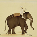 Mahout Riding An Elephant Painting - 18th Century by VintageArtAssociates