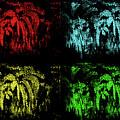 Maidenhair Ferns Pop Art by Mother Nature